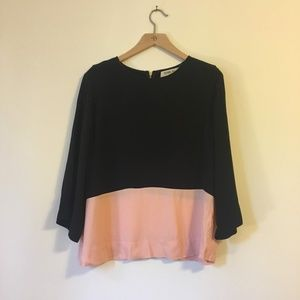Anthropologie Sam & Lavi Colorblock Blouse Size XS